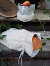 Úžitkový textil - Ľanové vrecko na chlieb Linen Memories - 11089265_
