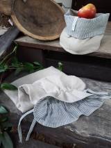 Úžitkový textil - Ľanové vrecko na chlieb Linen Memories - 11089266_