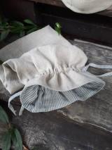 Úžitkový textil - Ľanové vrecko na chlieb Linen Memories - 11089268_