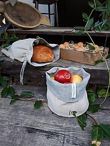 Úžitkový textil - Ľanový košík Linen Memories - 11089249_