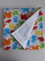Textil - Detská deka - Farebné sloníky - 11090952_