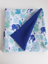 Textil - Detská deka - Modré sloníky - 11090995_