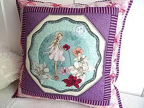 Úžitkový textil - Midnight Garden... vankúš No.2 - 11090512_