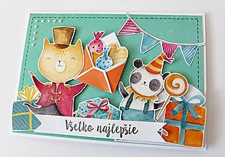 Papiernictvo - pohľadnica k narodeninám - 11090482_