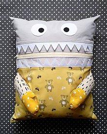 Textil - Pyžamožrút s medvedikom - žltý - 11091916_