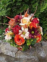 Dekorácie - jesenná dekorácia v keramickom črepníku 28 cm - 11090586_