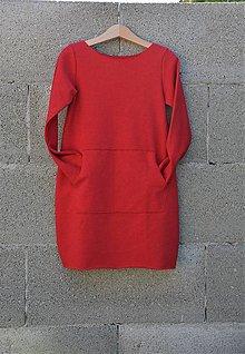 Detské oblečenie - Oversize šaty/tunika Taloux Rouge 116, posledný kus!!! - 11090702_