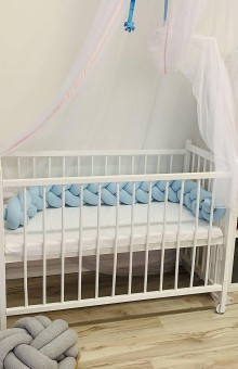Textil - Detský mantinel jednofarený - 11086474_
