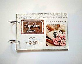 Papiernictvo - Fotoalbum svadobný * kniha hostí * album A5 - 11091127_