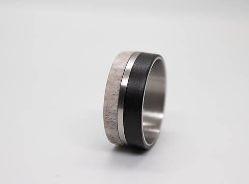 Titanový prsteň Eben a Parožie