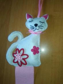 Detské doplnky - Sponkovník - labuť, kvet, lienka, sloník, jednorožec, medúza, mráčik,sova, mačka,korunka pre princeznú, žirafka, srdce (Sponkovník - mačka) - 11090687_