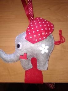 Detské doplnky - Sponkovník - labuť, kvet, lienka, sloník, jednorožec, medúza, mráčik,sova, mačka,korunka pre princeznú, žirafka, srdce (Sponkovník - sloník) - 11090736_