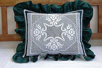Úžitkový textil - Smaragd na vankúši... - 11092000_