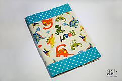 Papiernictvo - Detský obal na knihu, šlabikár, zošit A4 z látok na želanie - 11092512_