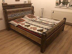 Nábytok - Posteľ zo starého dreva - 11092007_