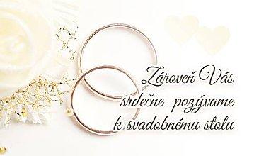 Papiernictvo - Pozvanie k svadobném u stolu - Obrúčky - 11090999_