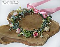 Ozdoby do vlasov - Venček do vlasov - ružový - jemný - 11091744_