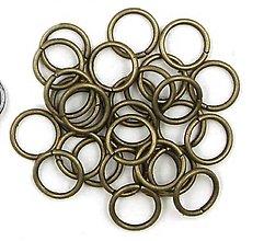 Komponenty - Spojovací krúžok 6 mm / 10 ks (Meď/Bronz) - 11090889_