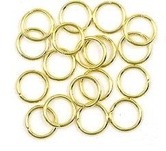 Komponenty - Spojovací krúžok 7 mm / 10 ks (Zlatá) - 11090933_