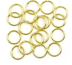 Komponenty - Spojovací krúžok 5 mm / 10 ks (Zlatá) - 11090949_