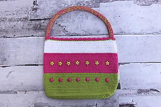Detské tašky - Detská háčkovaná kabelka - 11092527_