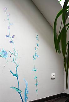 Obrazy - Kvety maľba na stenu - 11090796_