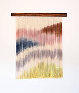 """Dekorácie - Nástenná dekorácia z dreva a vlny """"Cukrová neha"""" - 11090998_"""