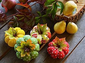 Dekorácie - Jesenná dekorácia tekvice - tekvičky SADA 4 ks - 11090763_