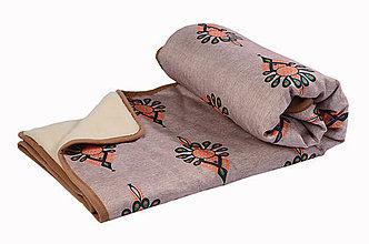 Úžitkový textil - Deka z pravej ovčej vlny tmavá - 11092341_