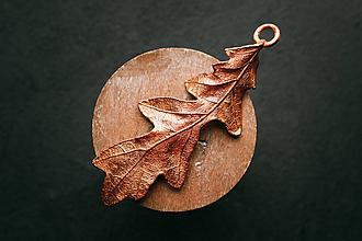 Náhrdelníky - Prívesok dubový list II. - 11090567_