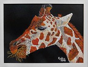 Obrazy - 8. Žirafa - 11091857_