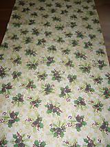Úžitkový textil - Vianočný obrus šiška - 11091459_