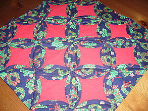 Úžitkový textil - Vianočná dečka-katedrálové okná - 11089705_