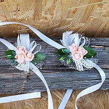 Náramky - Náramky pre družičky s tromi ružičkami - 11094284_