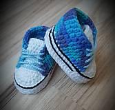 Topánočky - Modré melír tenisky - 11094763_