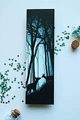 Papiernictvo - Hlboko v lese/ knižná záložka - 11094377_