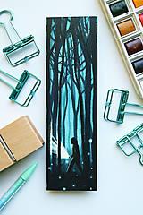 Papiernictvo - Túla sa lesom/ knižná záložka - 11094392_