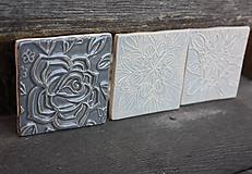 Dekorácie - obkladačka tmavo sivá RUŽA - 11093410_