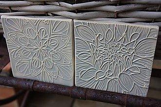Dekorácie - kachličky bledo šedé - 11093405_