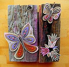 Dekorácie - Fialový motýľ - 11094713_