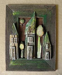 Obrazy - Domy v zelenom - 11094740_