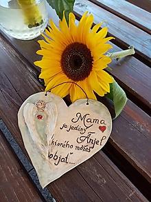 Dekorácie - Závesné keramické srdiečko pre mamku - 11094326_