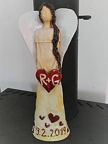 Socha - Anjel ako svadobný dar - 11094441_