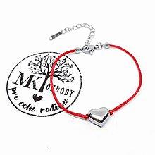 Náramky - Nerezové srdce - 11093316_