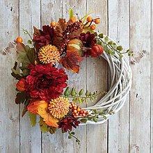 Dekorácie - Jesenný venček - 11093652_