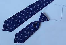 Detské doplnky - set OTEC A SYN (pánska + detská kravata) - 11093884_