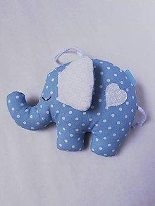 Hračky - Sloník - hračka (Modrá) - 11092861_