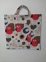 Nákupné tašky - taška skladacia sovička - 11093039_
