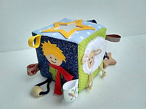 Hračky - Svietiaca! didaktická kocka Malý princ - 11094394_