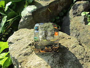 """Dekorácie - Org. kostka ,, Probuzení čaker """" s pyritem - 11094112_"""